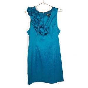 S.L. FASHIONS Womens Dress Ruffleneck